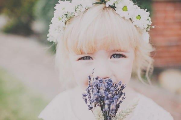 dried lavender wedding bridesmaid bouquet