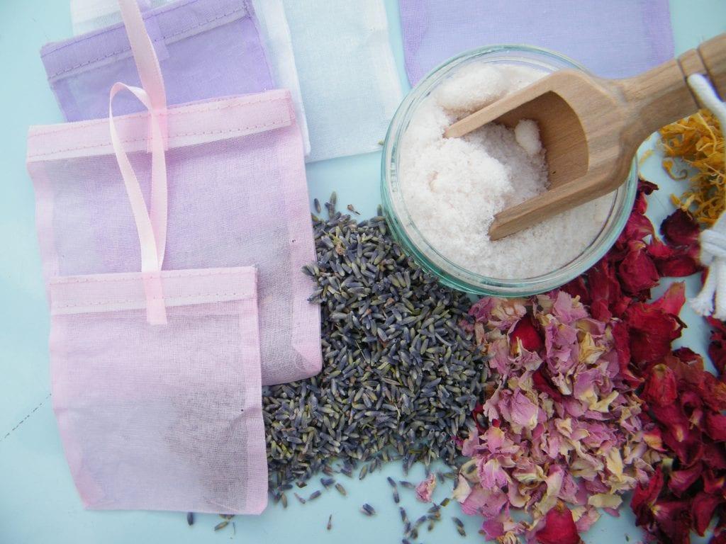 floral bath sachets ingredients