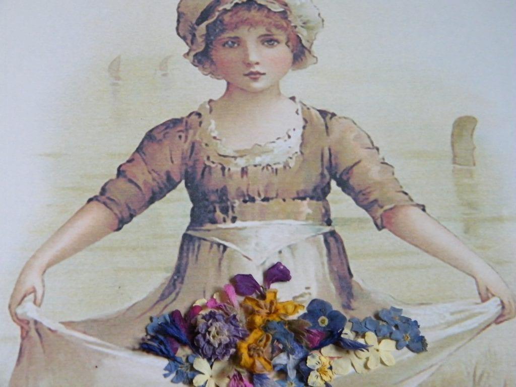 victorian apron garden flowers